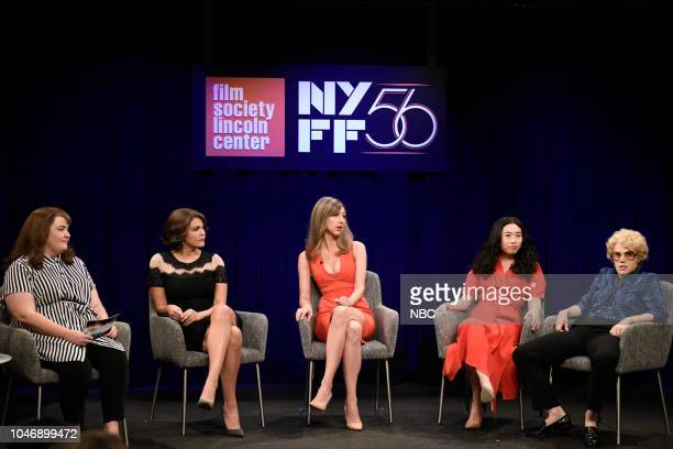 LIVE Awkwafina Episode 1748 Pictured Aidy Bryant Cecily Strong as Marion Cotillard Heidi Gardner as Allison Janney Awkwafina as Sandra Oh Kate...
