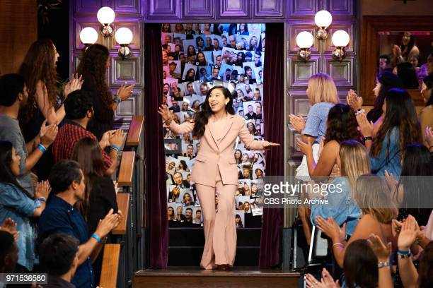 Awkwafina greets the audience during The Late Late Show with James Corden Thursday June 7 2018 On The CBS Television Network