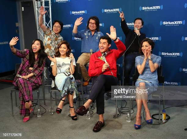 Awkwafina Jimmy O Yang Constance Wu Kevin Kwan Henry Golding Ken Jeong and Michelle Yeoh attend SiriusXM's Entertainment Weekly Radio Spotlight With...