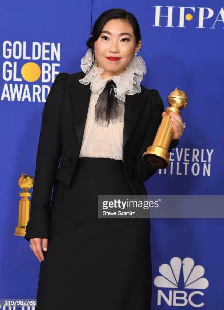 Awkwafina poses in the press room at the 77th Annual Golden Globe Awards at The Beverly Hilton Hotel on January 05 2020 in Beverly Hills California
