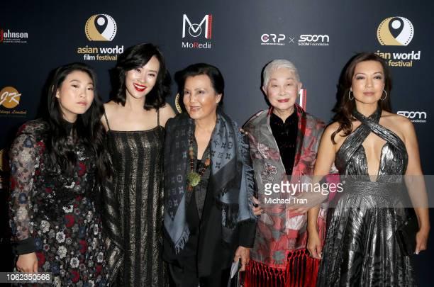 Awkwafina Vivian Wu Kieu Chinh Lisa Lu and MingNa Wen attend the 4th Annual Asian World Film Festival Closing Night Screening Of In Harm's Way held...
