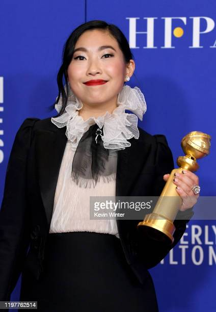 Awkwafina winner of Best Performance By An Actress In a Motion Picture Musical or Comedy poses in the press room during the 77th Annual Golden Globe...