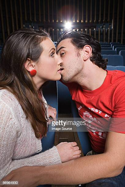 Awkward kiss in the cinema