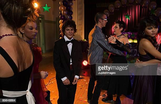 Awkward teenage boy at prom