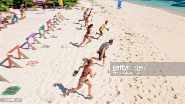 Awkward The remaining Survivors compete for Reward on the twelfth episode of SURVIVOR Edge of Extinction airing Wednesday May 1st on the CBS...