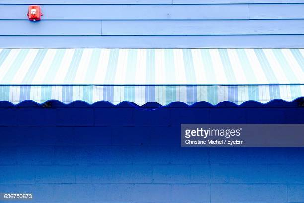 Awning On Blue Building