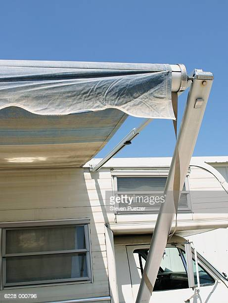 Awning on Trailer Home