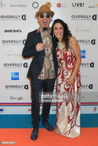 Ax and Francesca Vecchioni attend Diversity Media Awards Charity Gala Dinner on May 29 2017 in Milan Italy