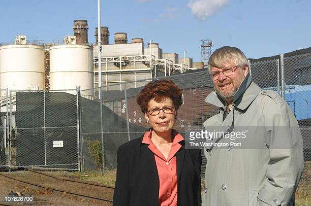 ax/cover11/13/03 by Larry Morris TWP Alexandria activists Elizabeth Chimento and Poul Hertel who are investigating the Mirant power plant in...