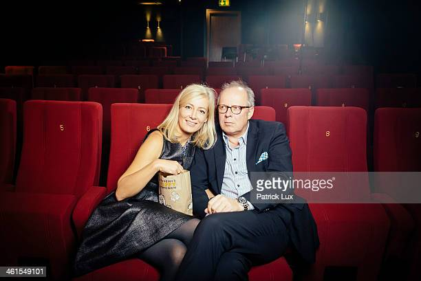 Axel and Judith Milberg pose during a photo session on December 4 2013 in Kiel Germany
