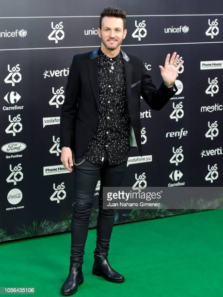 Axel attends during 'LOS40 Music Awards' 2018 at WiZink Center on November 2 2018 in Madrid Spain