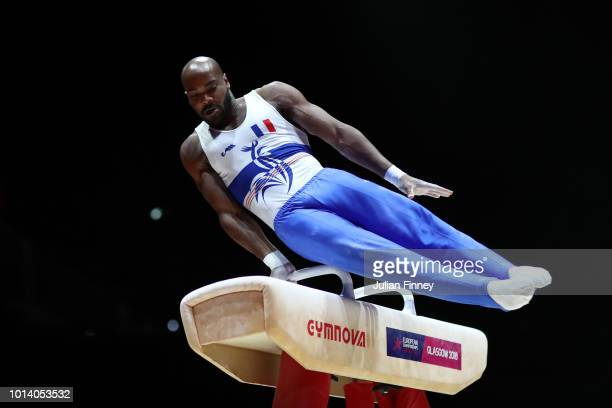 Axel Augis of France competes in Pommel Horse in subdivision 3 on Day Seven of the European Championships Glasgow 2018 at The SSE Hydro on August 9...