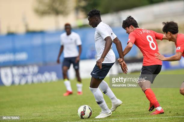 Axel Bakayoko of France during the International Festival Espoirs match between France and South Korea on May 27 2018 in Aubagne France
