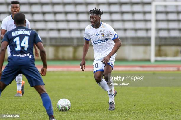 Axel Bakayoko of Sochaux during the French Ligue 2 match between Paris FC and Sochaux at Stade Charlety on March 10 2018 in Paris France
