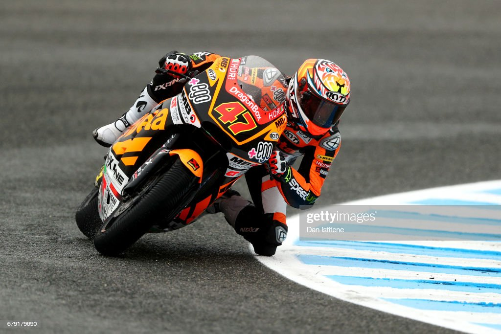 Axel Bassani of Italy and Speed Up Racing rides during free practice for Moto2 at Circuito de Jerez on May 5, 2017 in Jerez de la Frontera, Spain.