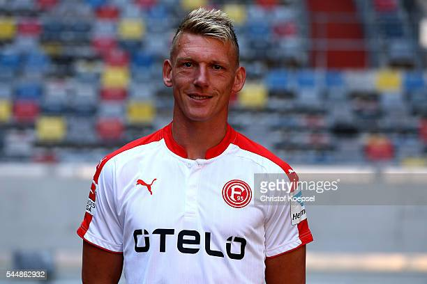 Axel Bellinghausen poses during the team presentation of Fortuna Duesseldorf at EspritArena on July 4 2016 in Duesseldorf Germany