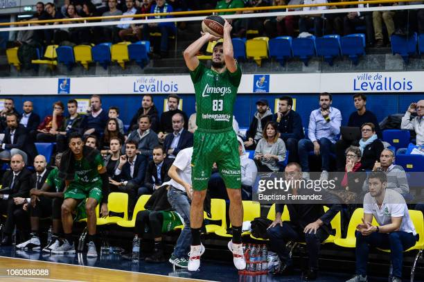 Axel Bouteille of Limoges during the Jeep Elite match between Levallois Metropolitans and CSP Limoges at Salle Marcel Cerdan on November 12 2018 in...