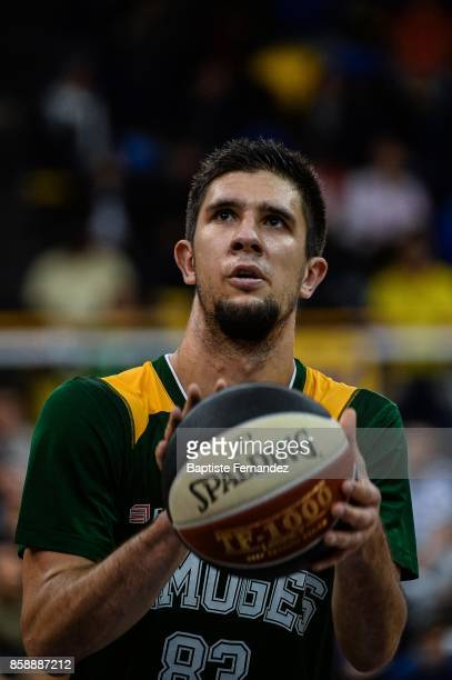 Axel Bouteille of Limoges during the Pro A match between Levallois and Limoges on October 7 2017 in LevalloisPerret France