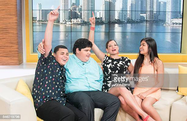 Axel Cabrera finalist Christopher Rivera winner La Voz Kids Natalia Jimenez Winning coach of 'La Voz Kids' and Alejandra Gallardo finalist attend 'Un...