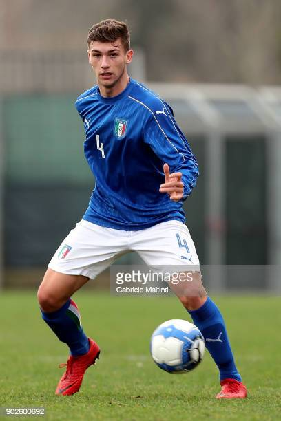 Axel Campeol of Italy in action during the at Coverciano 'Torneo Dei Gironi' Italian Football Federation U18 Tournament on January 8 2018 in Florence...