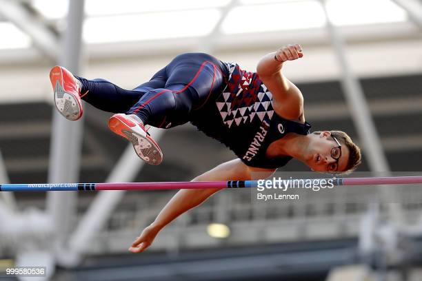 Axel Chapelle of France competes in the Men's Pole Vault during day two of the Athletics World Cup London at the London Stadium on July 15 2018 in...