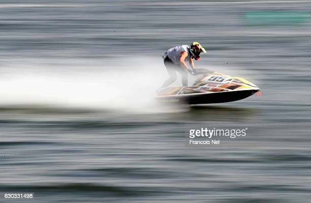 Axel Courtois of France practice ahead of the Ski Division GP1 during the Aquabike Class Pro Circuit World Championships Grand Prix of Sharjah at...