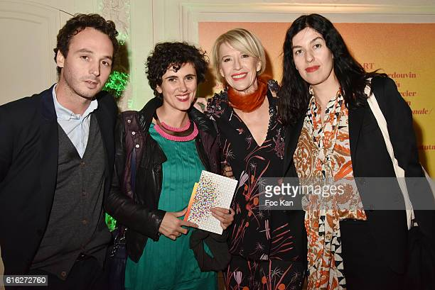 Axel Dibie Isabelle Alfonsi from Marcelle Alis Galerie Colette Barbier and Cecilia Becanovic from Marcelle Alix Galerie attend 'Le Bal Jaune 2016'...
