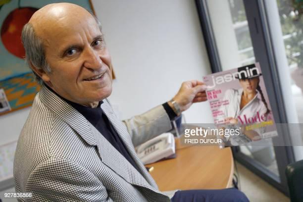 Axel Ganz ancien patron de Prisma Presse présente le 18 octobre 2006 dans son bureau à Paris Jasmin nouvel hebdomadaire des femmes de 25 à 40 ans qui...