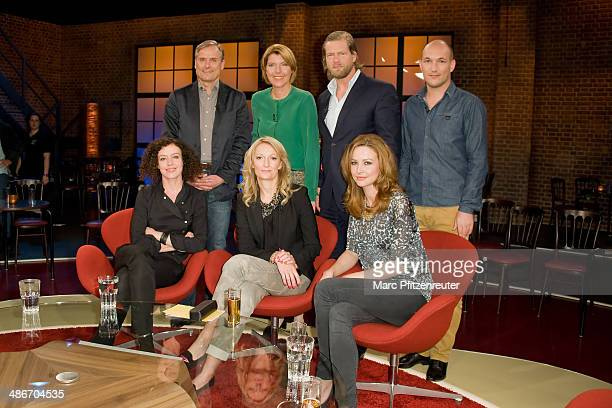 Axel Hacke Bettina Boettinger Henning Baum Florian Zech Maria Schrader Monika Gruber and Katrin Bauerfeind attend the Koelner Treff TV Show at the...