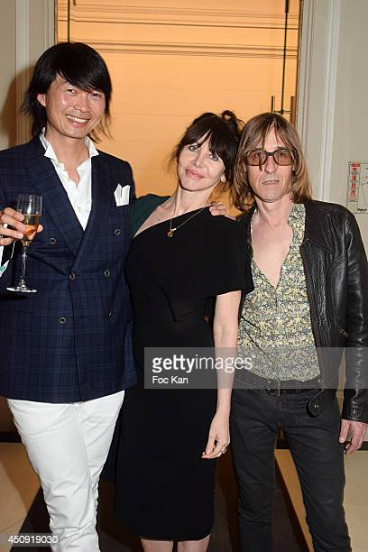 Axel Huyhn Gil Lesage and Pierre Emery from Ultra Orange band attend 'Untold' Perfume by Elizabeth Arden Launch Party At Hotel Mona Bismarck on June...