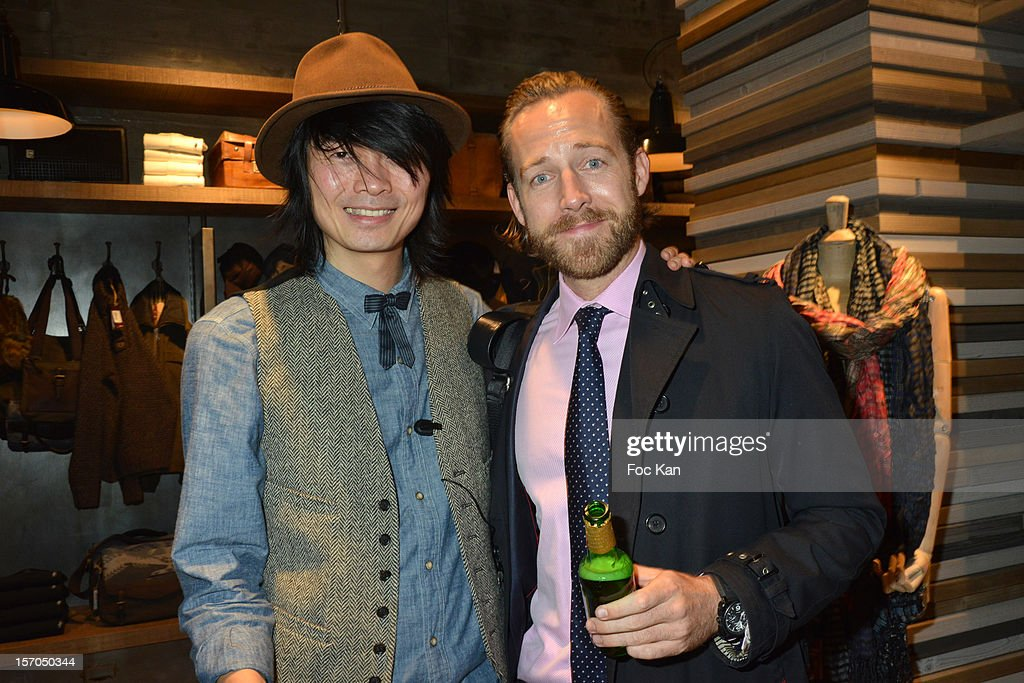 Axel Huynh and Philipp Schmidt attend the MCS 'We The People' launch party at MCS Champs Elysees on November 27, 2012 in Paris, France.