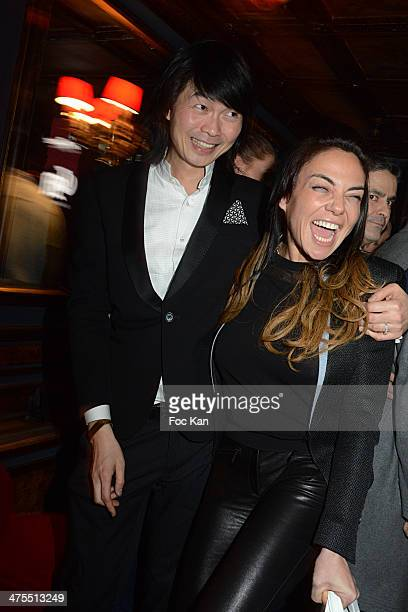 Axel Huynh from Crazy Baby and Sandra Zeitoun attends the Ellen Von Unwerth and Wild Magazine Cocktail Party as part of the Paris Fashion Week...