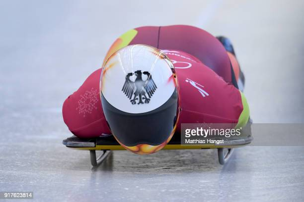 Axel Jungk of Germany trains during the Mens Skeleton training session on day four of the PyeongChang 2018 Winter Olympic Games at Olympic Sliding...