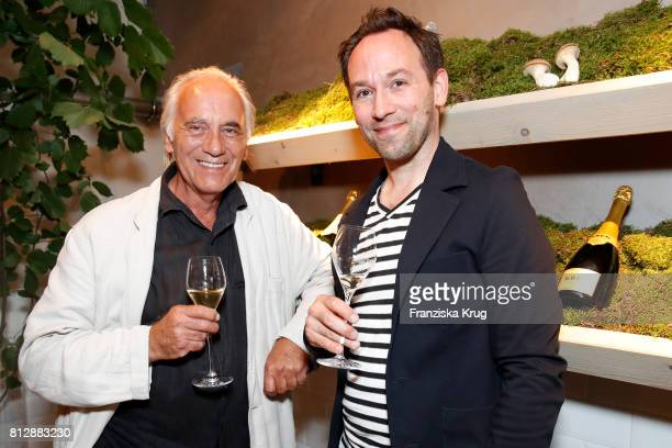 Axel Krumsick Paul Wedekind and his son Christian Wedekind attend the 'Krug Kiosk' Event on July 11 2017 in Hamburg Germany