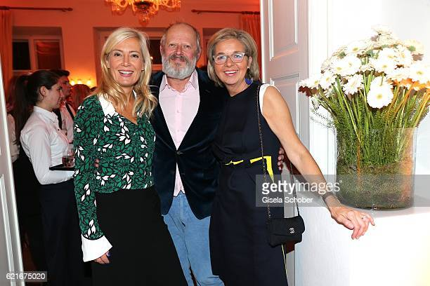 Axel Milberg and his wife Judith Milberg and Inga GrieseSchwenkow during the birthday party for the 10th anniversary of ICON at Nymphenburg Palais No...