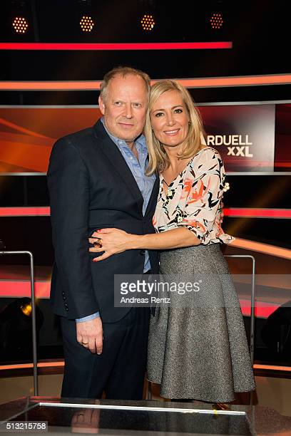 Axel Milberg and his wife Judith Milberg attend 'Paarduell XXL' photo call on March 1 2016 in Huerth Germany