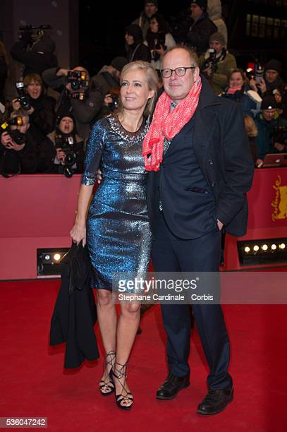 Axel Milberg and his wife Judith Milberg attend the 'Nobody Wants the Night' Opening Night premiere during the 65th Berlinale International Film...
