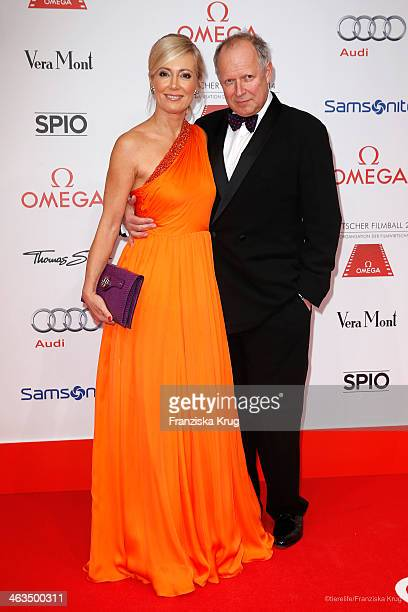 Axel Milberg and Judith Milberg attend the German Film Ball 2014 on January 18 2014 in Munich Germany