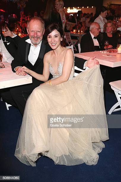 Axel Milberg and Sibel Kekilli during the after show party of the Goldene Kamera 2016 on February 6 2016 in Hamburg Germany