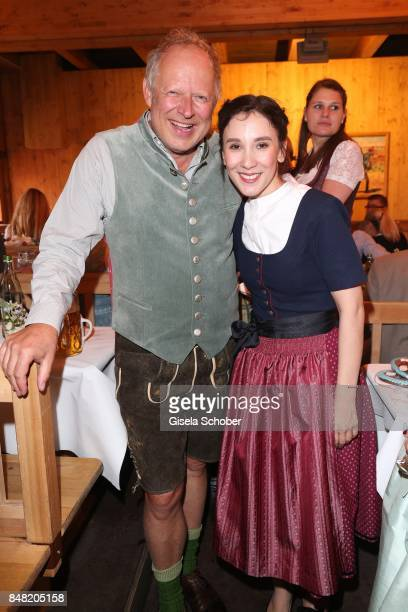 Axel Milberg and Sibel Kekilli during the 'Fruehstueck bei Tiffany' at Schuetzenfesthalle at the Oktoberfest on September 16, 2017 in Munich, Germany.