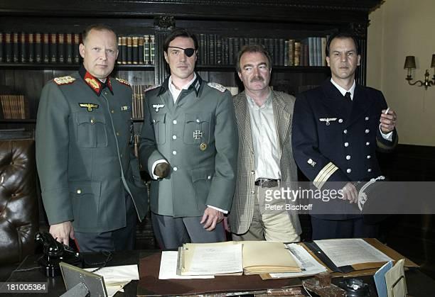 """Axel Milberg, Sebastian Koch, Jo Baier , Christopher Buchholz, , ARD/SWR-Film: """"Stauffenberg"""", Köln, , Schauspieler, Uniform, Nationalsozialist,..."""
