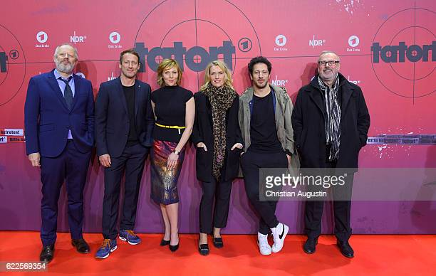 Axel Milberg Wotan Wilke Moehring Franziska Weisz Maria Furtwaengler Fahri Yardim and Christian Granderath attend celebration event of 1000 Episodes...