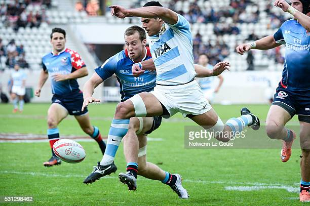 Axel Muller of Argentina during the match between Argentina and USA during the HSBC PARIS SEVENS tournament at Stade Jean Bouin on May 13 2016 in...
