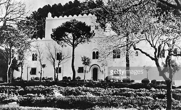 Axel Munthe *31.10.1857-+Arzt, Schriftsteller, Schwedenseine Villa auf Capri - undatiert