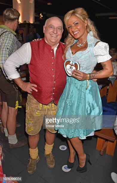 Axel Munz and Jasmin Herren during the Angermaier TrachtenNacht at Hofbraeuhaus on August 30 2018 in Berlin Germany