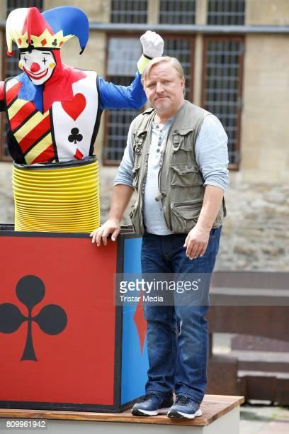 Axel Prahl during the 'Tatort Gott ist auch nur ein Mensch' On Set Photo Call on July 5 2017 in Muenster Germany