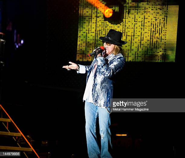 Axel Rose of Guns N Roses, live on stage at Reading Festival on August 27, 2010.