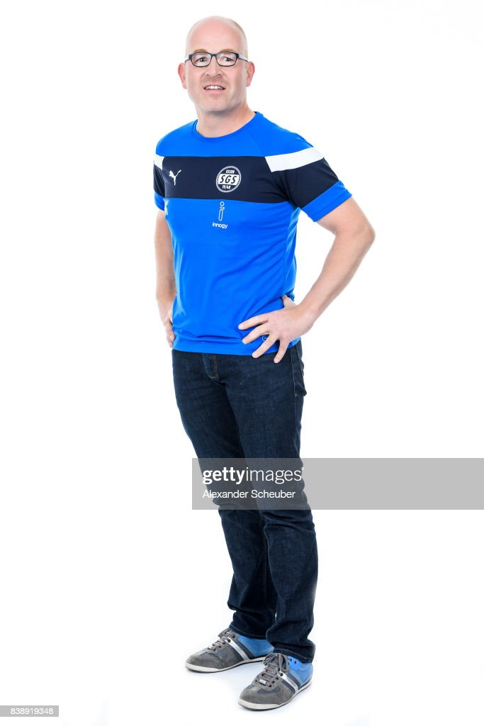 Axel Schaefer of SGS Essen poses during the Allianz Frauen Bundesliga Club Tour at Stadion Essen on August 22, 2017 in Essen, Germany.