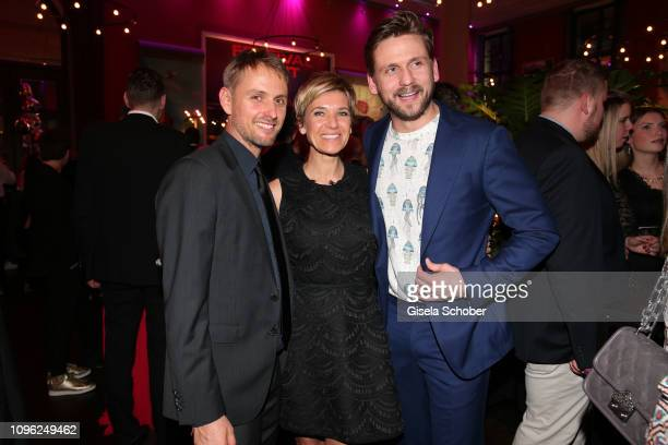 Axel Schreiber Kerstin Landsmann and her boyfriend Steve Windolf during the BUNTE BMW Festival Night at Restaurant Gendarmerie during the 69th...