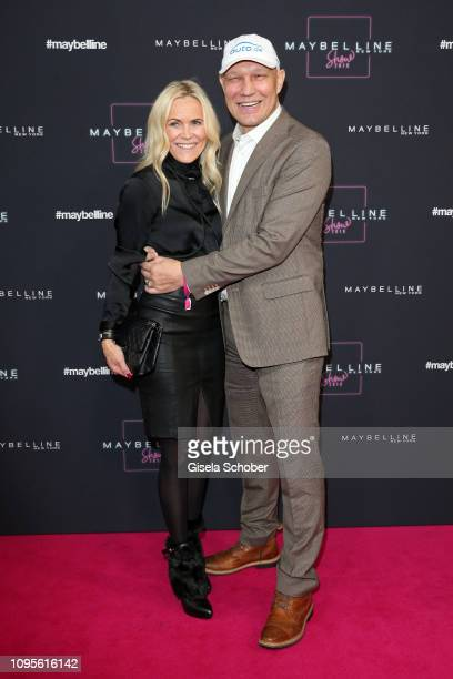 Axel Schulz and his wife Patricia attend the Maybelline New York show 'Makeup that makes it in New York' during the Berlin Fashion Week Autumn/Winter...